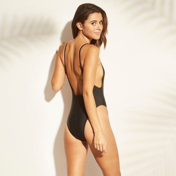 76329da234c Black Scoop Back One Piece Swimsuit XL NWT